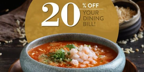Crystal Jade Singapore 20% Off Dining Bill at Crystal Jade Pavilion Promotion ends 30 Dec 2019 | Why Not Deals 1 & Promotions