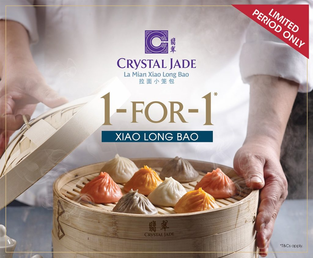 Crystal Jade Singapore Xiao Long Bao 1-for-1 Promotion ends 15 Dec 2019 | Why Not Deals