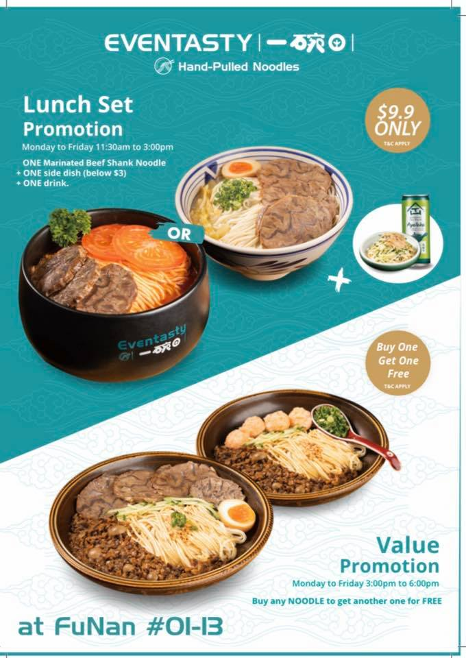 Eventasty Singapore Buy One Get One FREE Lunch Set Promotion Mondays-Fridays   Why Not Deals