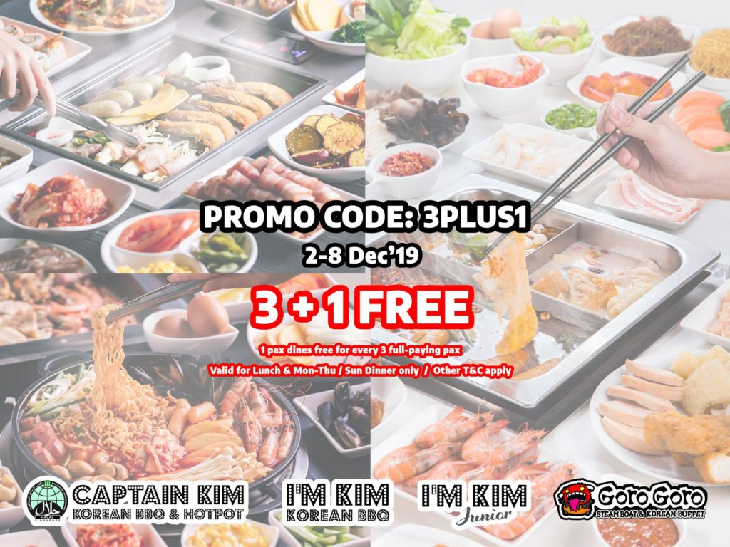 GoroGoro Steamboat & Korean Buffet Singapore 3 + 1 FREE Promotion 2-8 Dec 2019 | Why Not Deals