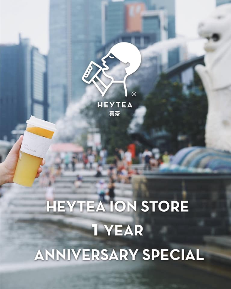 HEYTEA Singapore 1st Anniversary Buy 1 FREE 1 Promotion 10 Nov 2019 | Why Not Deals