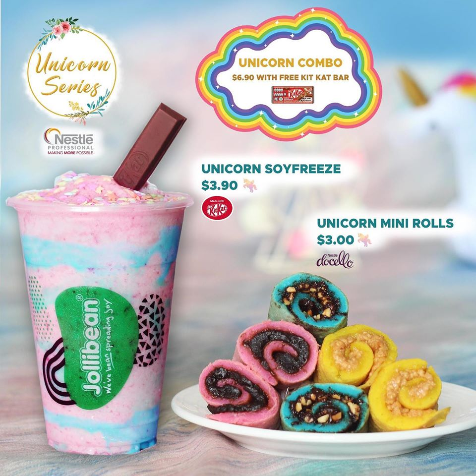 Jollibean Singapore Purchase a Unicorn Combo & Get a FREE KIT KAT BAR Promotion ends 7 Jan 2020 | Why Not Deals