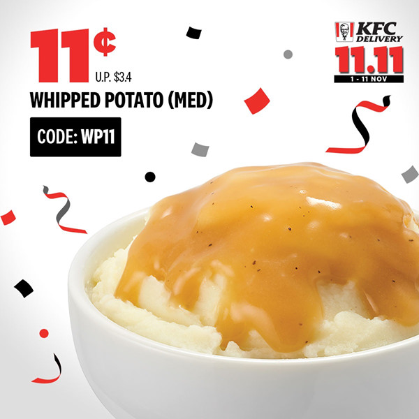 KFC Singapore 11.11 Delivery Exclusive Deals Up to 97% Off Promotion ends 11 Nov 2019 | Why Not Deals 1