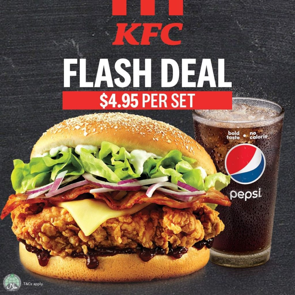 KFC Singapore Mighty Zinger Meal @ $4.95 Flash to Redeem This Promotion from 4-9 Nov 2019 | Why Not Deals