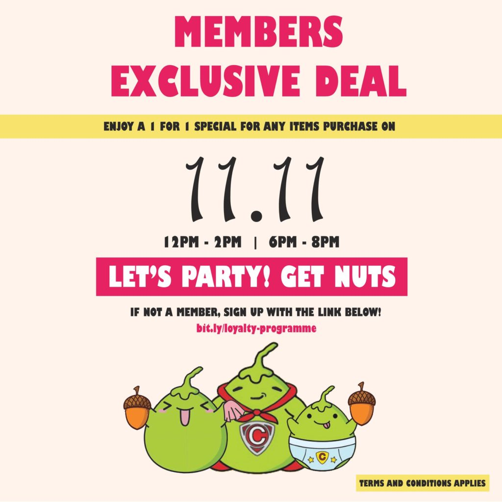 Mr Coconut Singapore Members Exclusive 11.11 1-for-1 Promotion 11 Nov 2019 | Why Not Deals