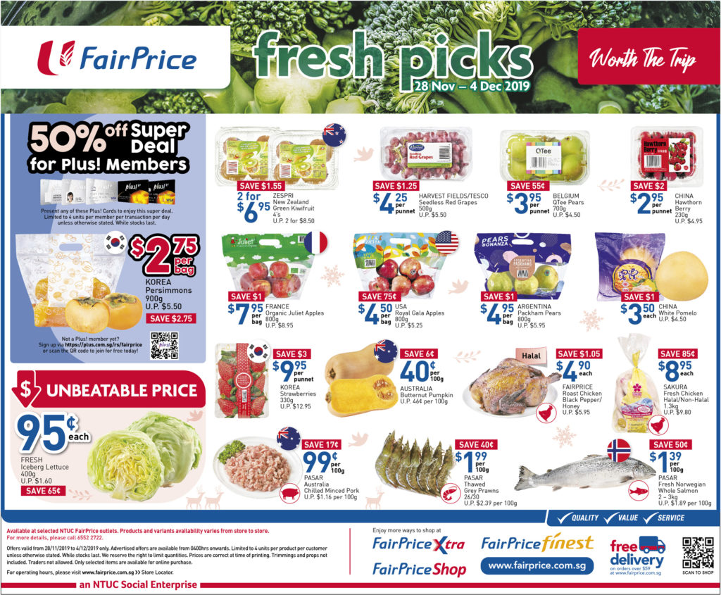 NTUC FairPrice Singapore Your Weekly Saver Promotions 28 Nov - 4 Dec 2019 | Why Not Deals 1