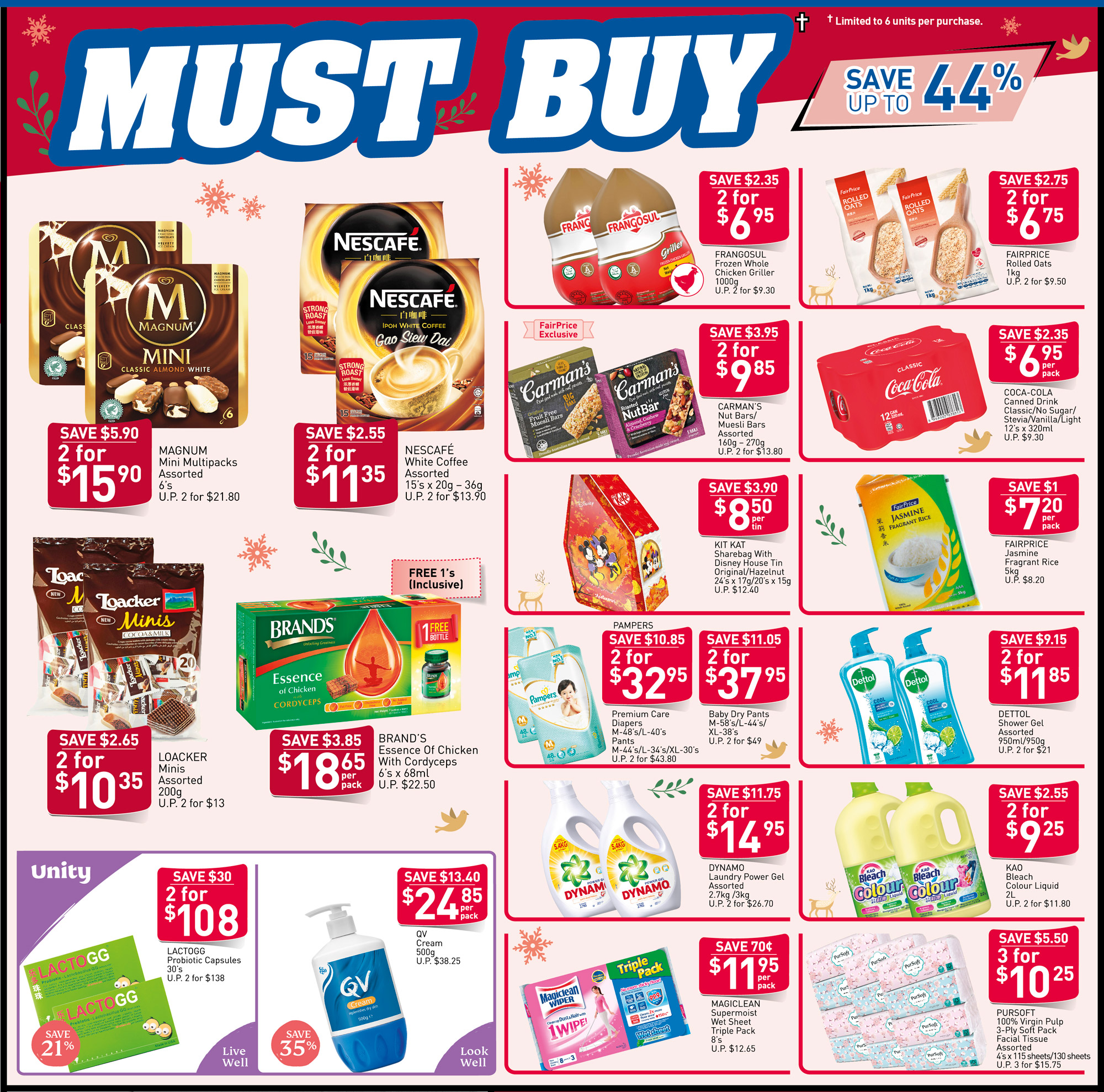 NTUC FairPrice Singapore Your Weekly Saver Promotions 28 Nov - 4 Dec 2019 | Why Not Deals 3 & Promotions
