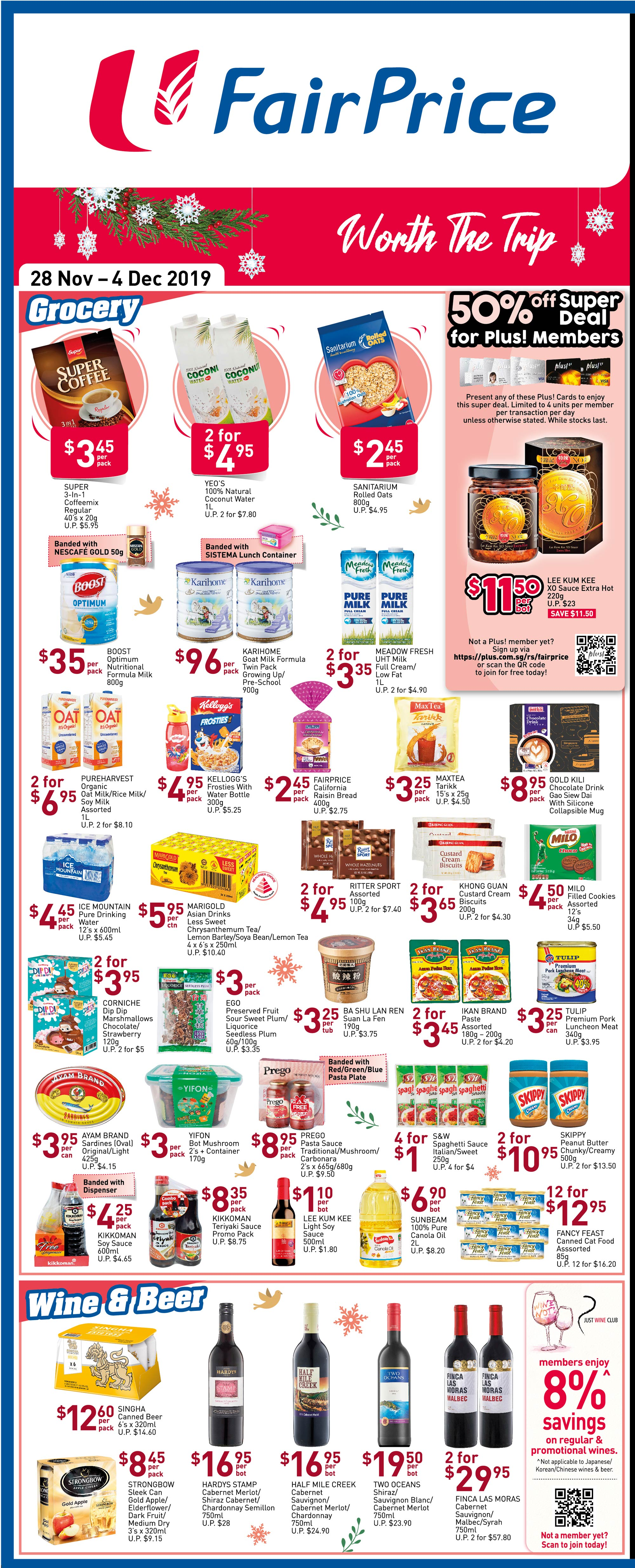 NTUC FairPrice Singapore Your Weekly Saver Promotions 28 Nov - 4 Dec 2019 | Why Not Deals 5 & Promotions