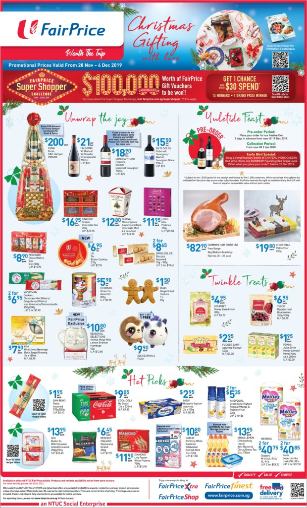 NTUC FairPrice Singapore Your Weekly Saver Promotions 28 Nov - 4 Dec 2019 | Why Not Deals