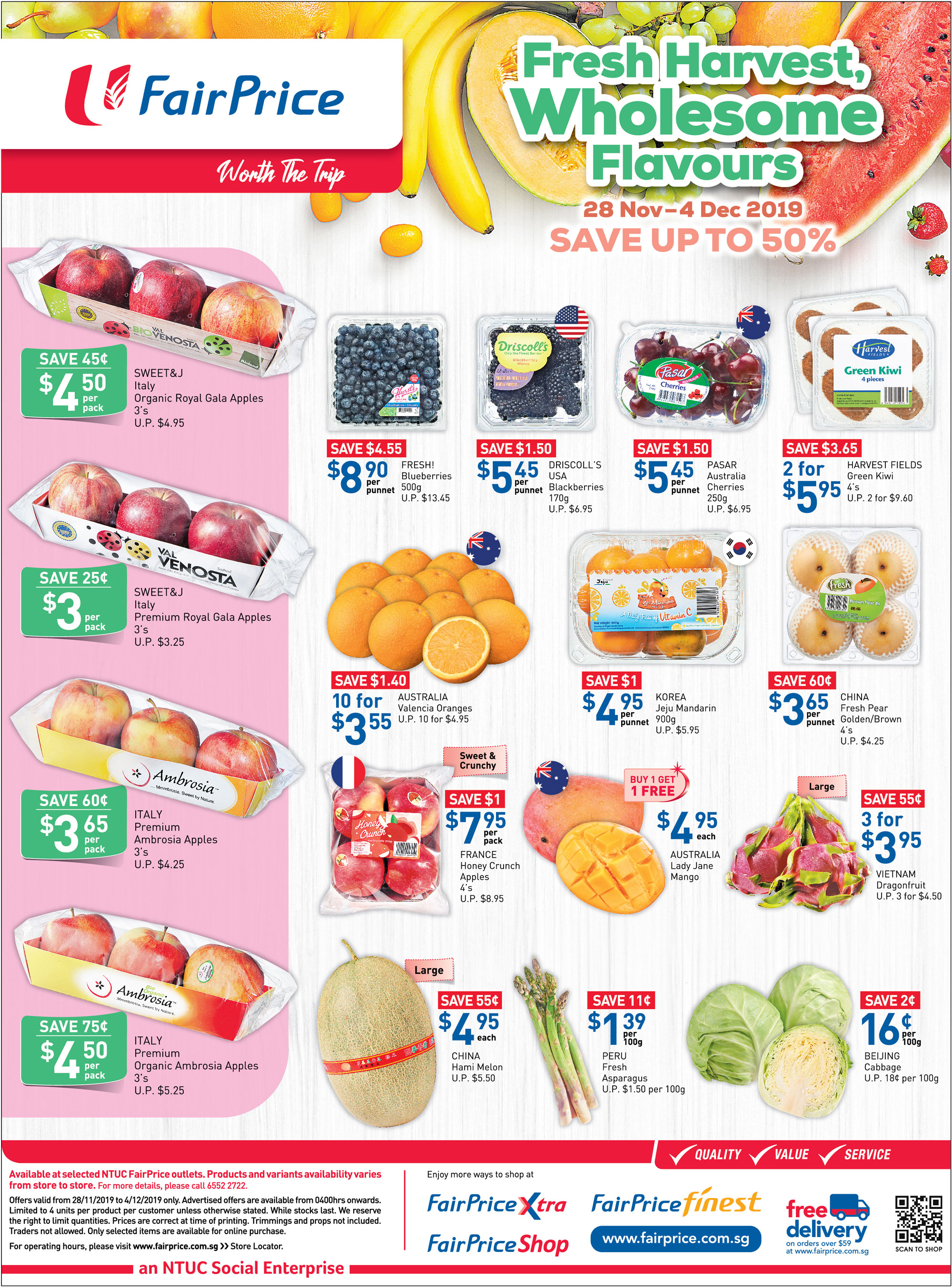 NTUC FairPrice Singapore Your Weekly Saver Promotions 28 Nov - 4 Dec 2019 | Why Not Deals 6 & Promotions
