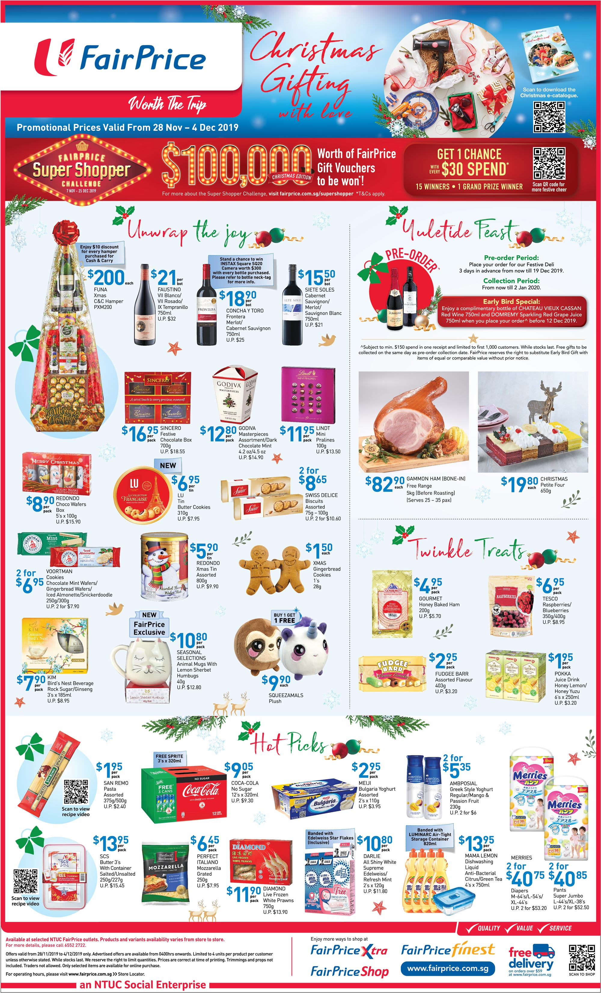 NTUC FairPrice Singapore Your Weekly Saver Promotions 28 Nov - 4 Dec 2019 | Why Not Deals & Promotions