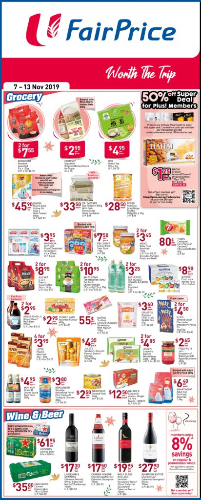 NTUC FairPrice Singapore Your Weekly Saver Promotions 7-13 Nov 2019   Why Not Deals 3