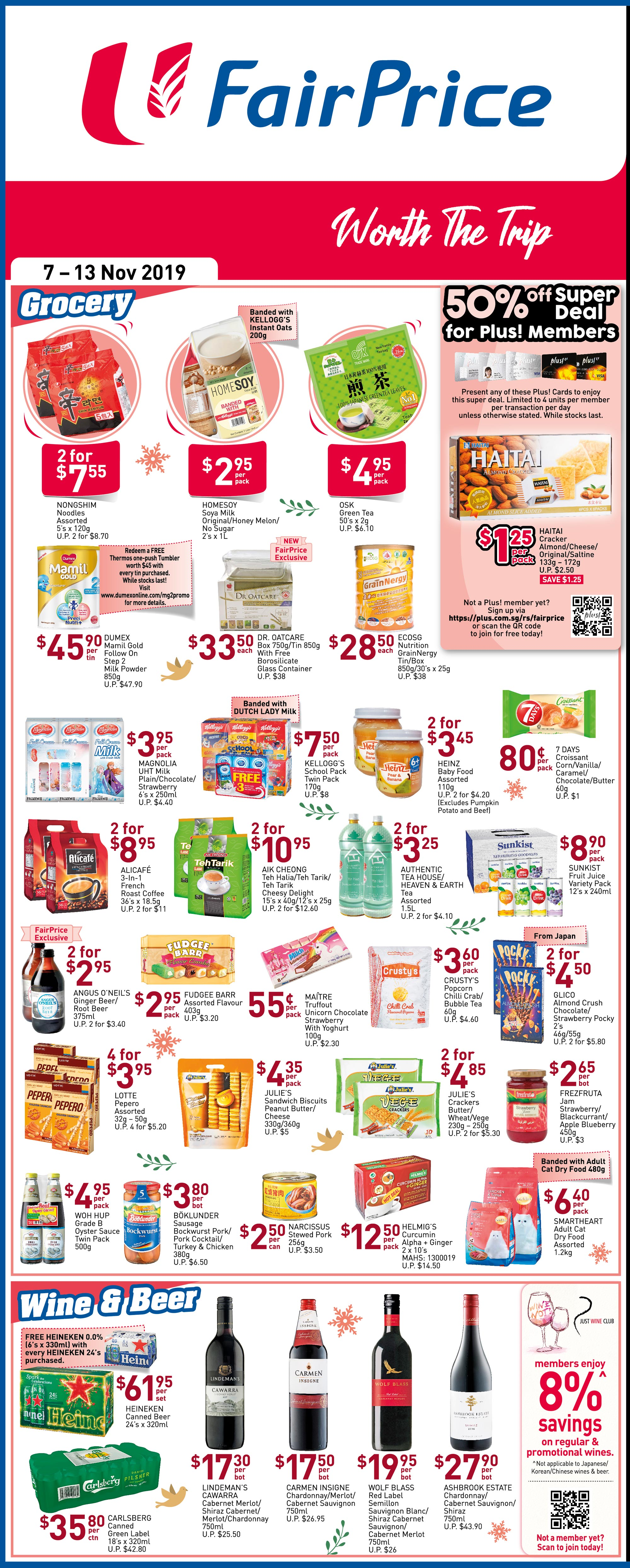 NTUC FairPrice Singapore Your Weekly Saver Promotions 7-13 Nov 2019   Why Not Deals 3 & Promotions