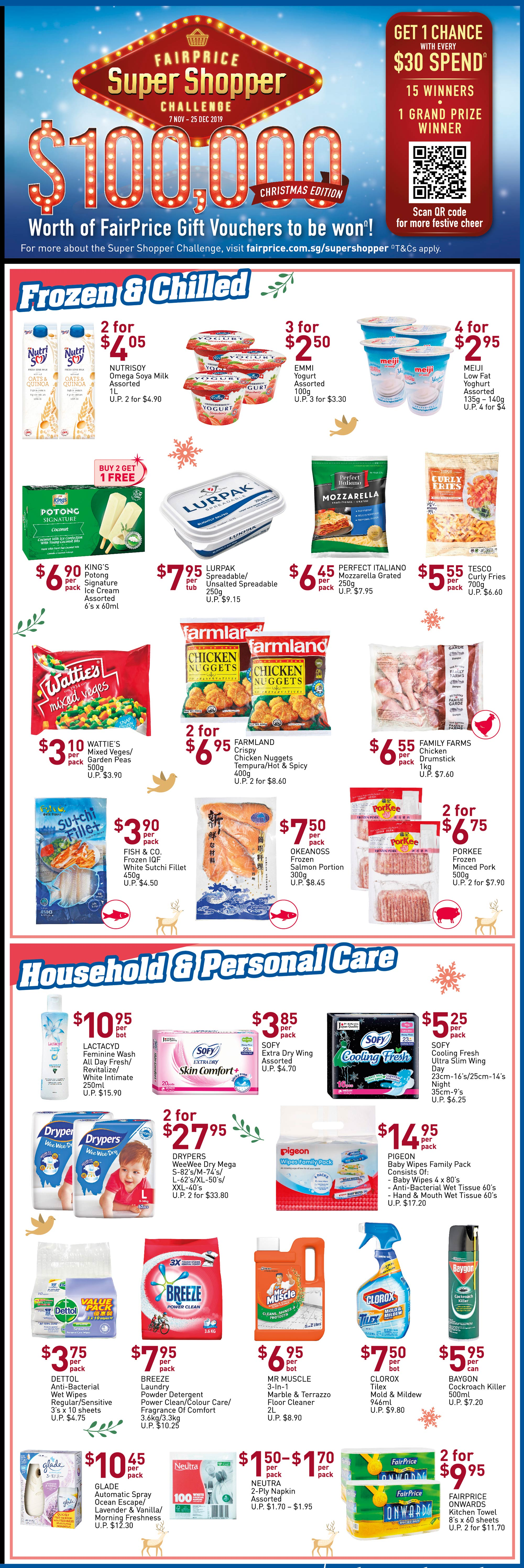 NTUC FairPrice Singapore Your Weekly Saver Promotions 7-13 Nov 2019   Why Not Deals 4 & Promotions