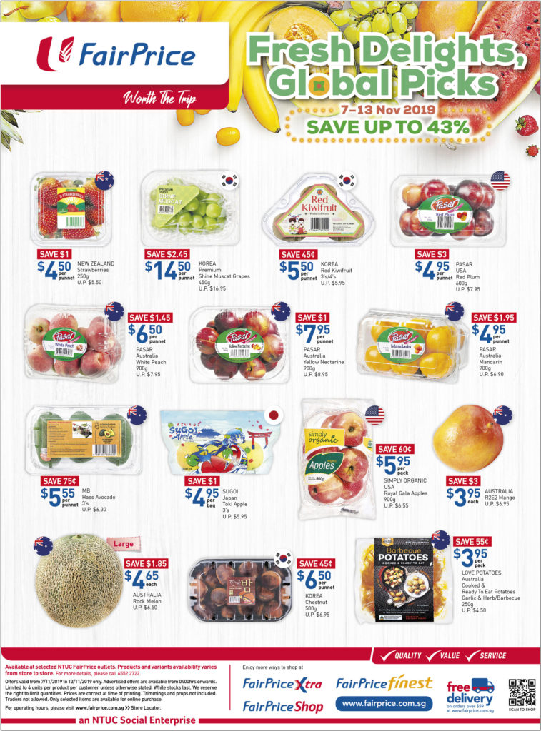 NTUC FairPrice Singapore Your Weekly Saver Promotions 7-13 Nov 2019   Why Not Deals 6