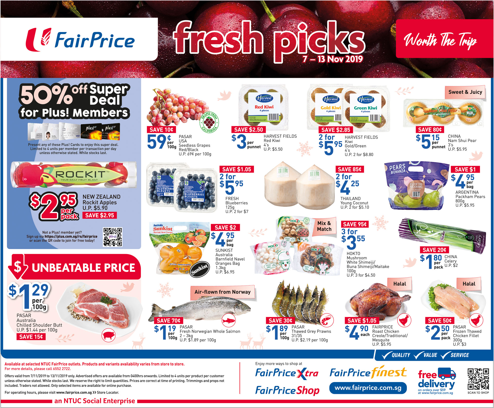 NTUC FairPrice Singapore Your Weekly Saver Promotions 7-13 Nov 2019   Why Not Deals & Promotions