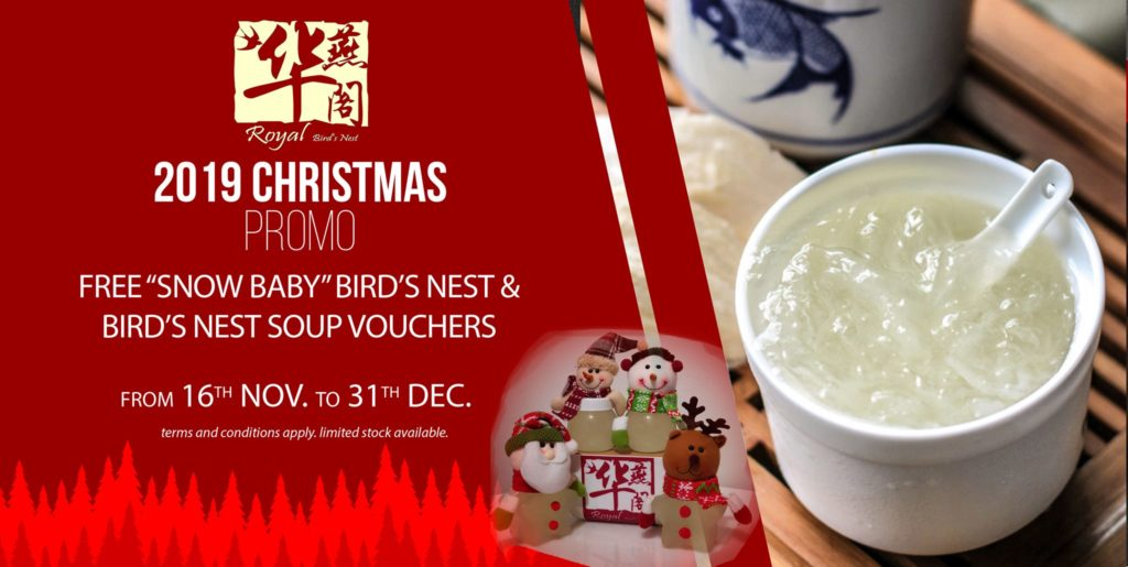 Royal Bird's Nest Singapore Christmas Online Exclusive Promotion 15 Nov - 31 Dec 2019 | Why Not Deals