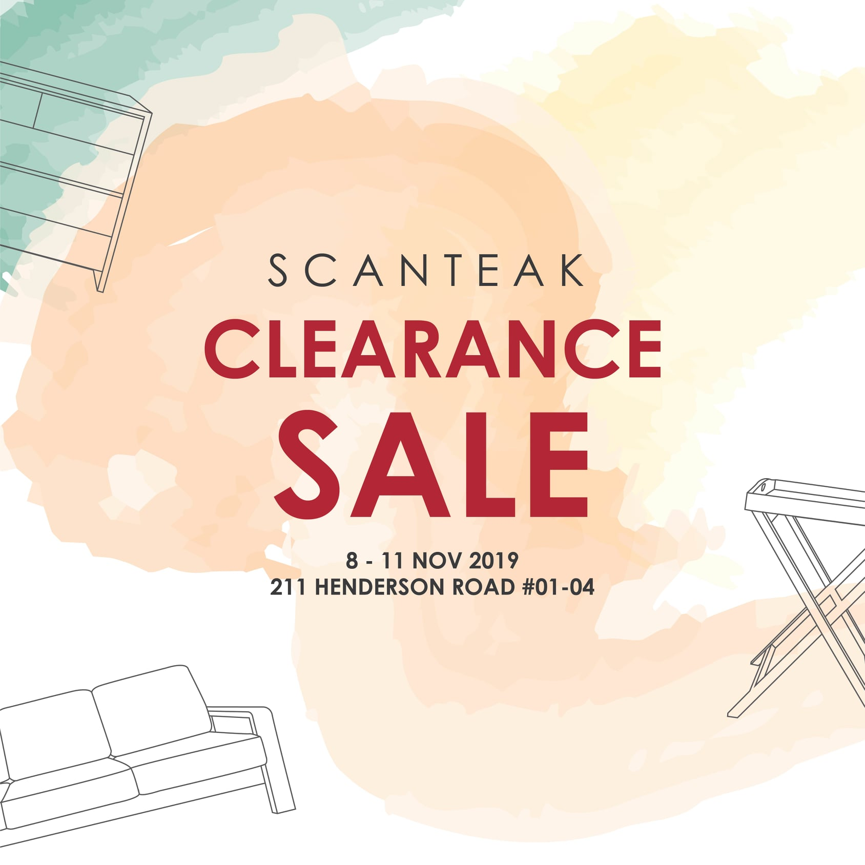 Scanteak Singapore is having a Clearance Sale Up to 60% Off Promotion 8-11 Nov 2019 | Why Not Deals 1 & Promotions