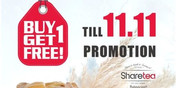 Sharetea Singapore Woodlands Exclusive 1-for-1 Promotion ends 11 Nov 2019 | Why Not Deals 1 & Promotions