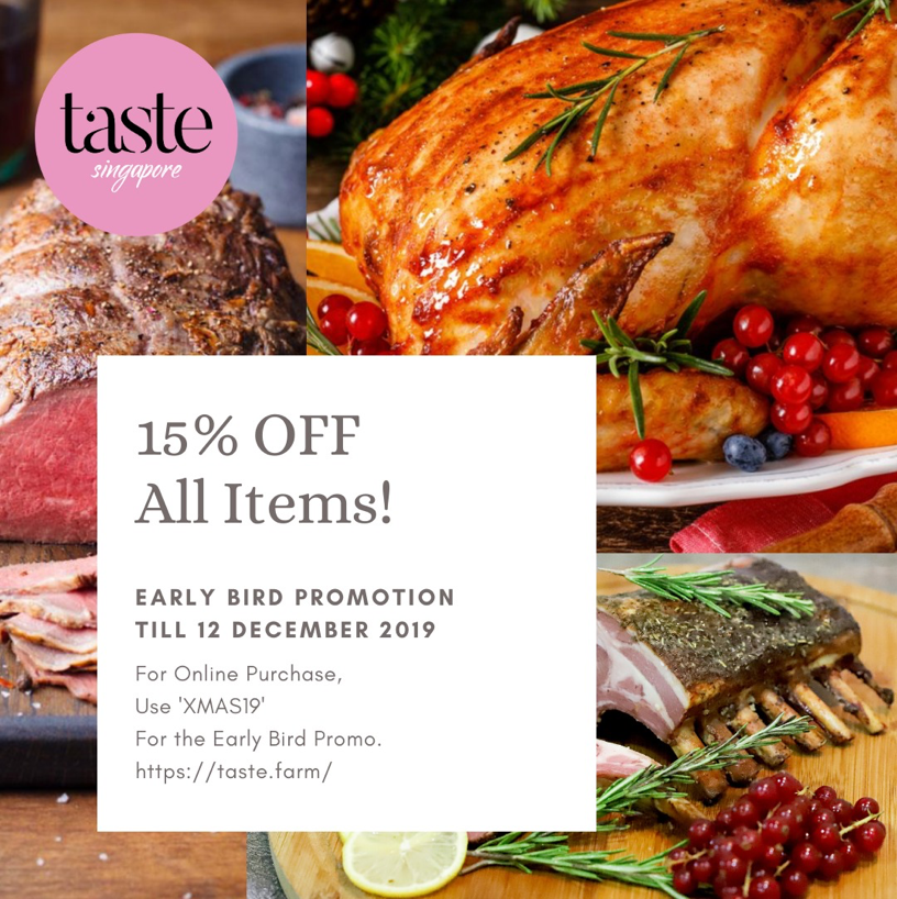 Taste Singapore Christmas 15% Early Bird Promotion ends 12 Dec 2019 | Why Not Deals