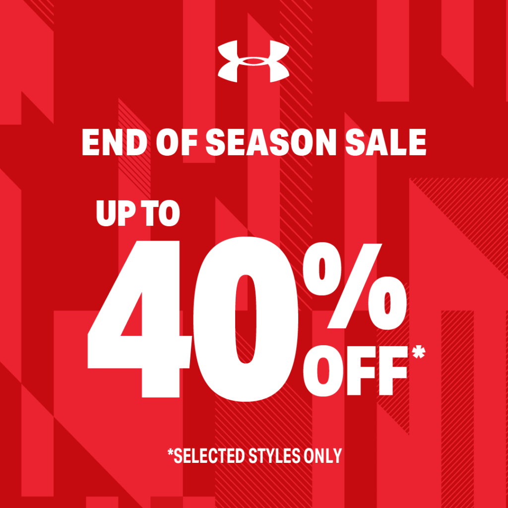 Under Armour Singapore End of Season Sale Up to 40% Off Promotion 29 Nov 2019 - 12 Jan 2020 | Why Not Deals