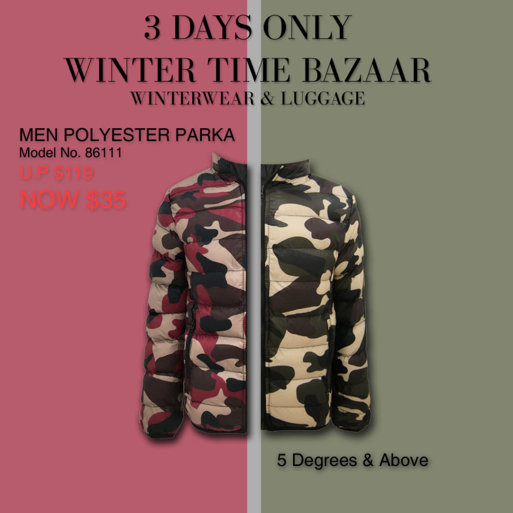 Winter Time Singapore Biggest Winterwear & Luggage Bazaar at Suntec Up to 80% Off Promotion 8-10 Nov 2019 | Why Not Deals 2