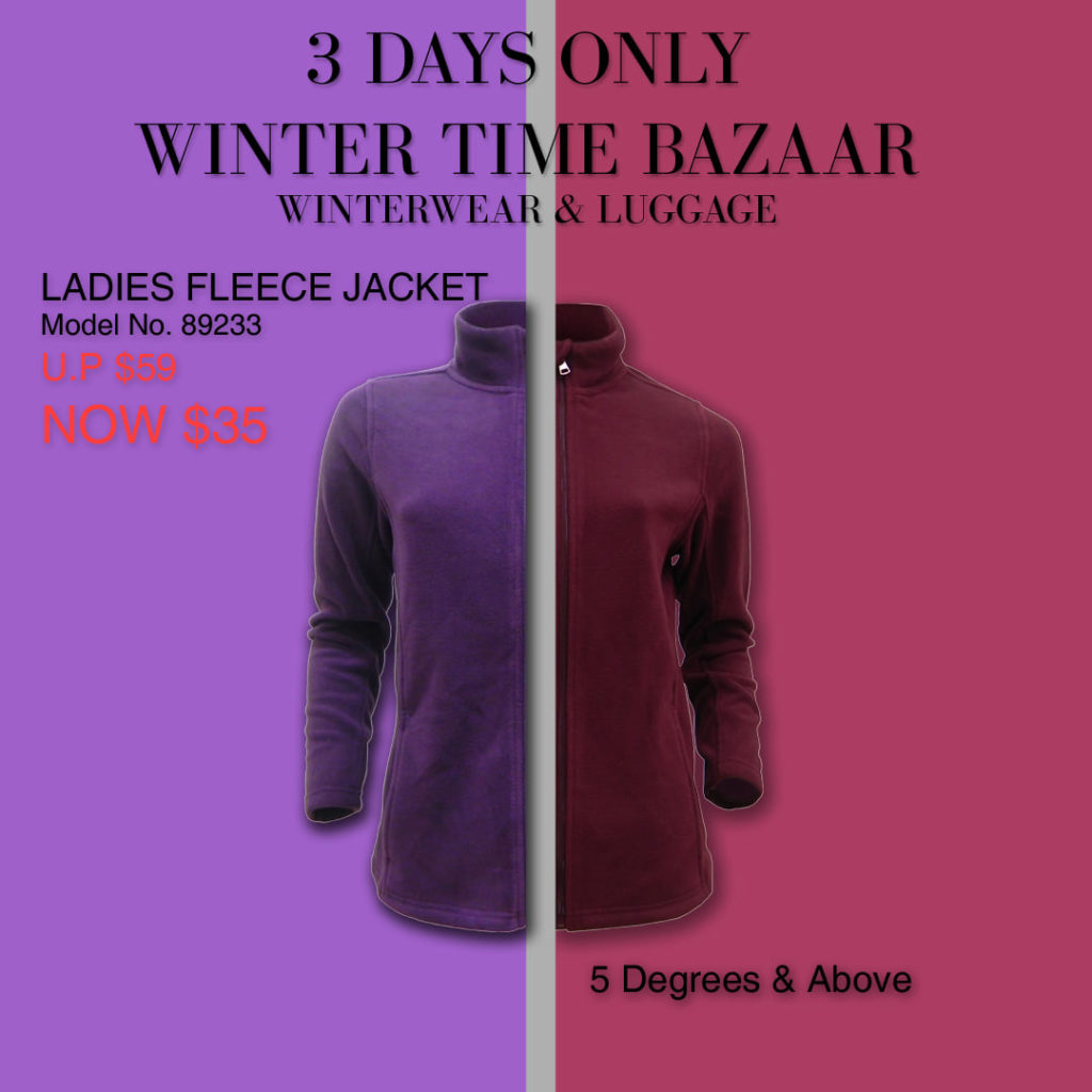 Winter Time Singapore Biggest Winterwear & Luggage Bazaar at Suntec Up to 80% Off Promotion 8-10 Nov 2019 | Why Not Deals 4