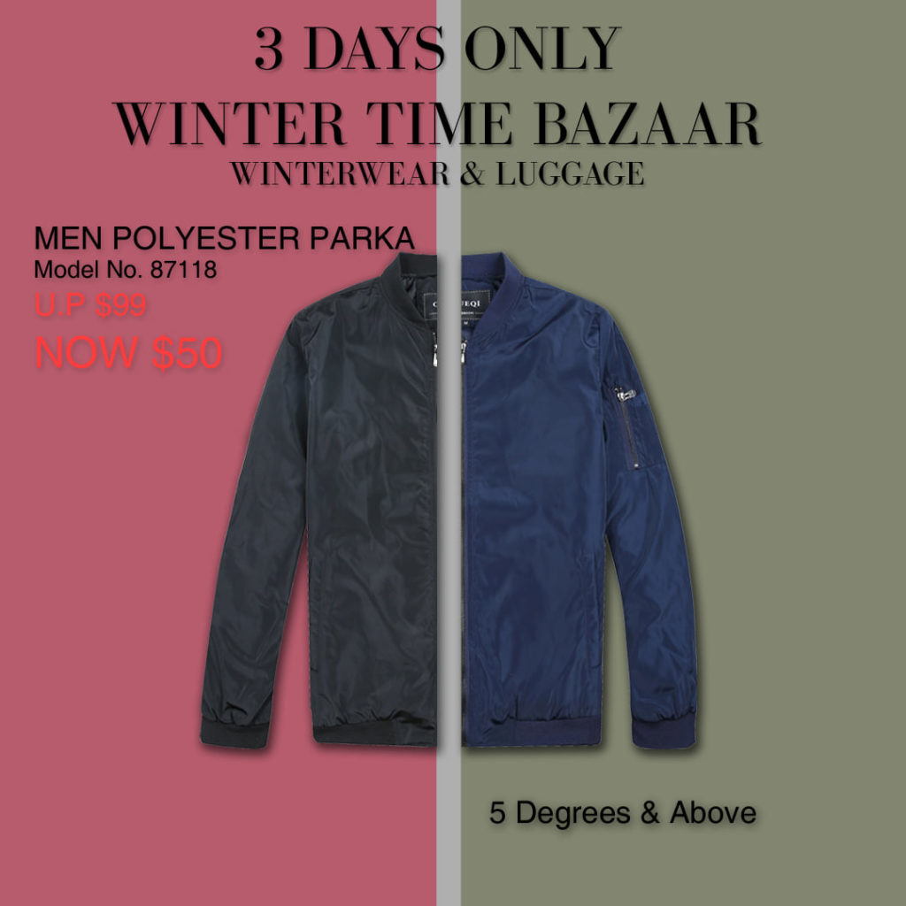 Winter Time Singapore Biggest Winterwear & Luggage Bazaar at Suntec Up to 80% Off Promotion 8-10 Nov 2019 | Why Not Deals 5