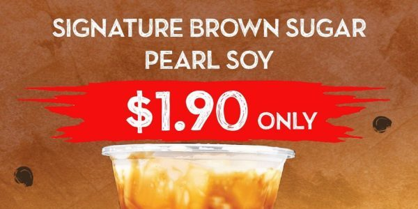 Jollibean SG Signature Brown Sugar Pearl Soy at $1.90 Promotion 2-6 Dec 2019 | Why Not Deals 1 & Promotions