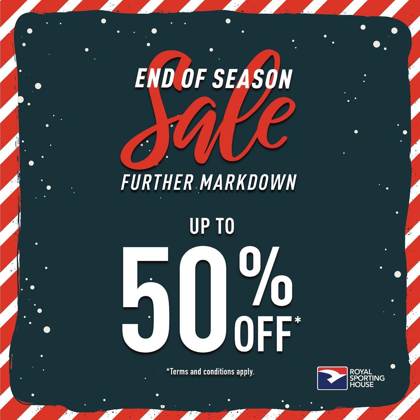 Royal Sporting House SG End of Season Sale Up to 50% Off Promotion   Why Not Deals & Promotions