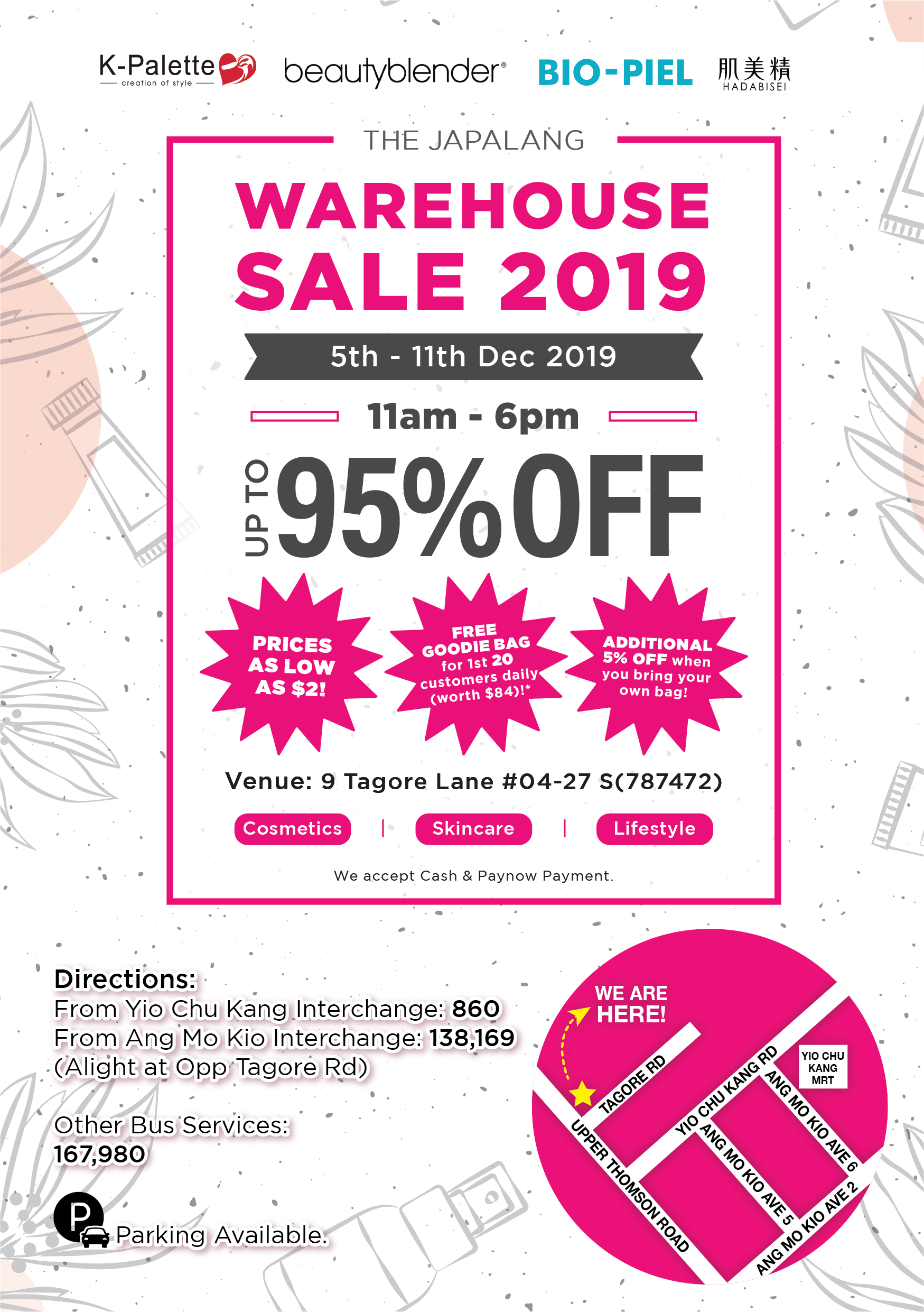 The Japalang Warehouse Sale SG is back with Up to 95% Off Promotion 5-11 Dec 2019 | Why Not Deals 1 & Promotions