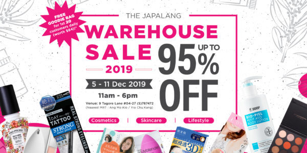 The Japalang Warehouse Sale SG is back with Up to 95% Off Promotion 5-11 Dec 2019 | Why Not Deals 2 & Promotions