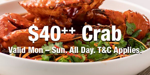 $40++ Crab | Why Not Deals & Promotions