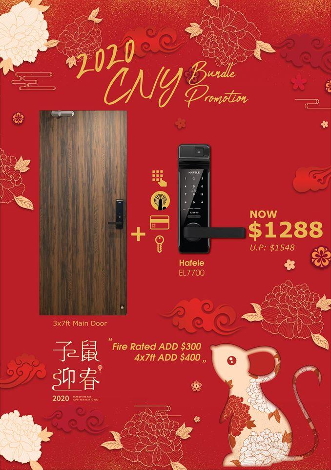 CNY Bundle (Door + Gate + Digital Lock) Promotion Sale Singapore 2020 | Why Not Deals 2 & Promotions