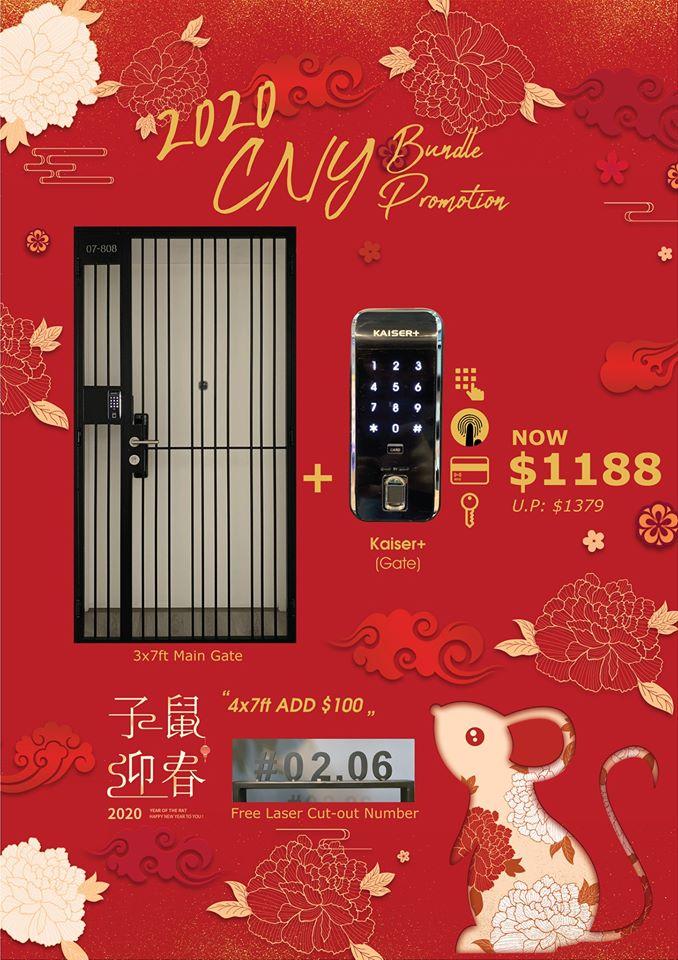 CNY Bundle (Door + Gate + Digital Lock) Promotion Sale Singapore 2020 | Why Not Deals 1 & Promotions