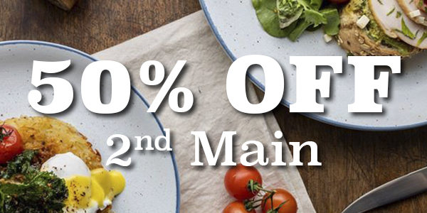 BRUNCH: 50% OFF 2ND MAINS | Why Not Deals & Promotions