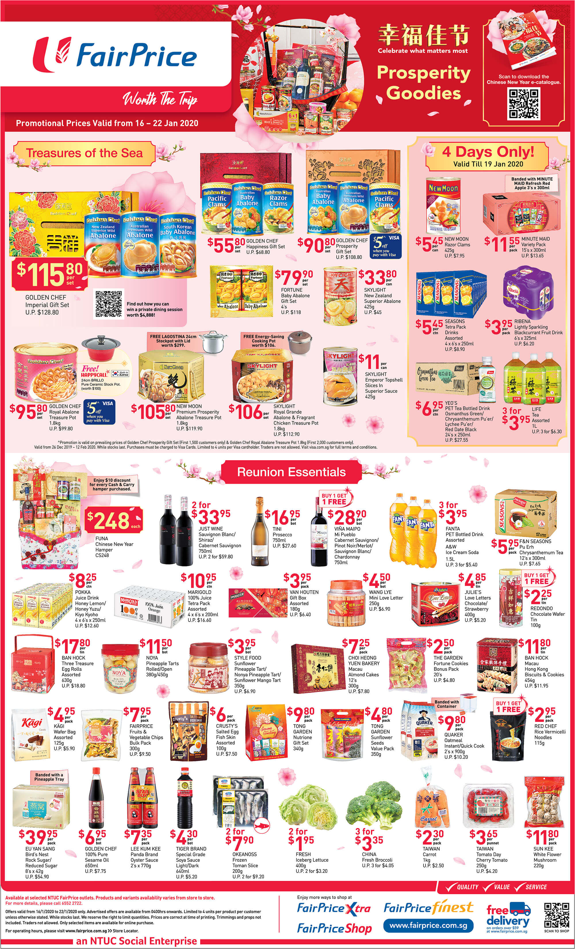 NTUC FairPrice SG Your Weekly Saver Promotion 16-22 Jan 2020 | Why Not Deals 1 & Promotions
