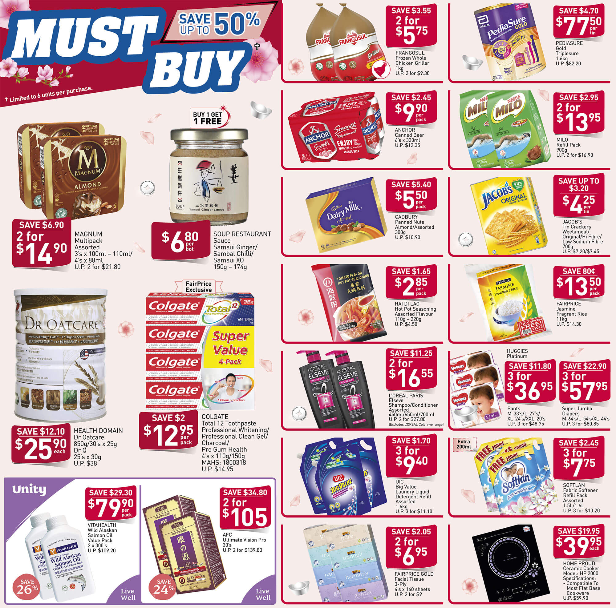 NTUC FairPrice SG Your Weekly Saver Promotion 16-22 Jan 2020 | Why Not Deals 4 & Promotions