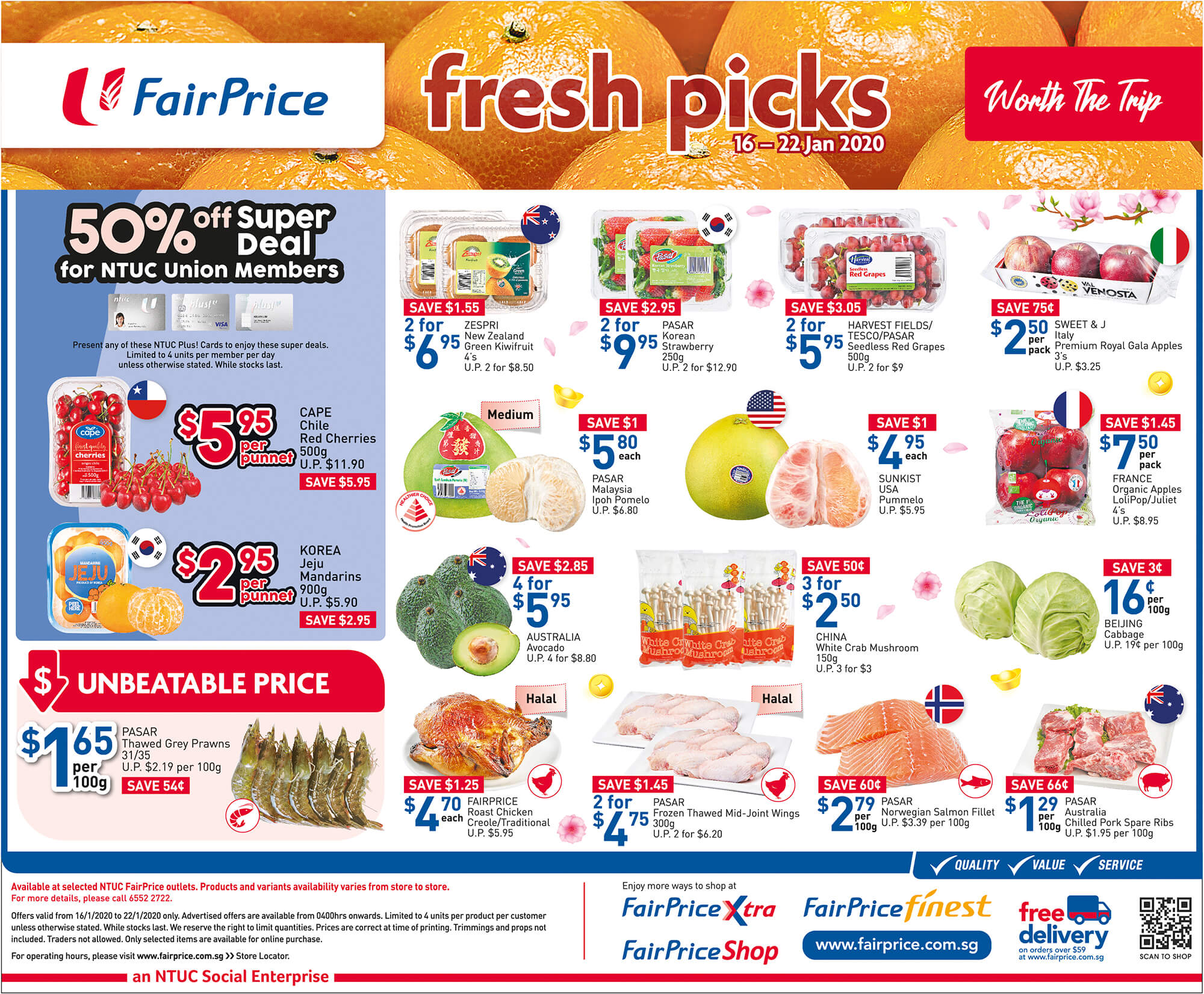NTUC FairPrice SG Your Weekly Saver Promotion 16-22 Jan 2020 | Why Not Deals & Promotions