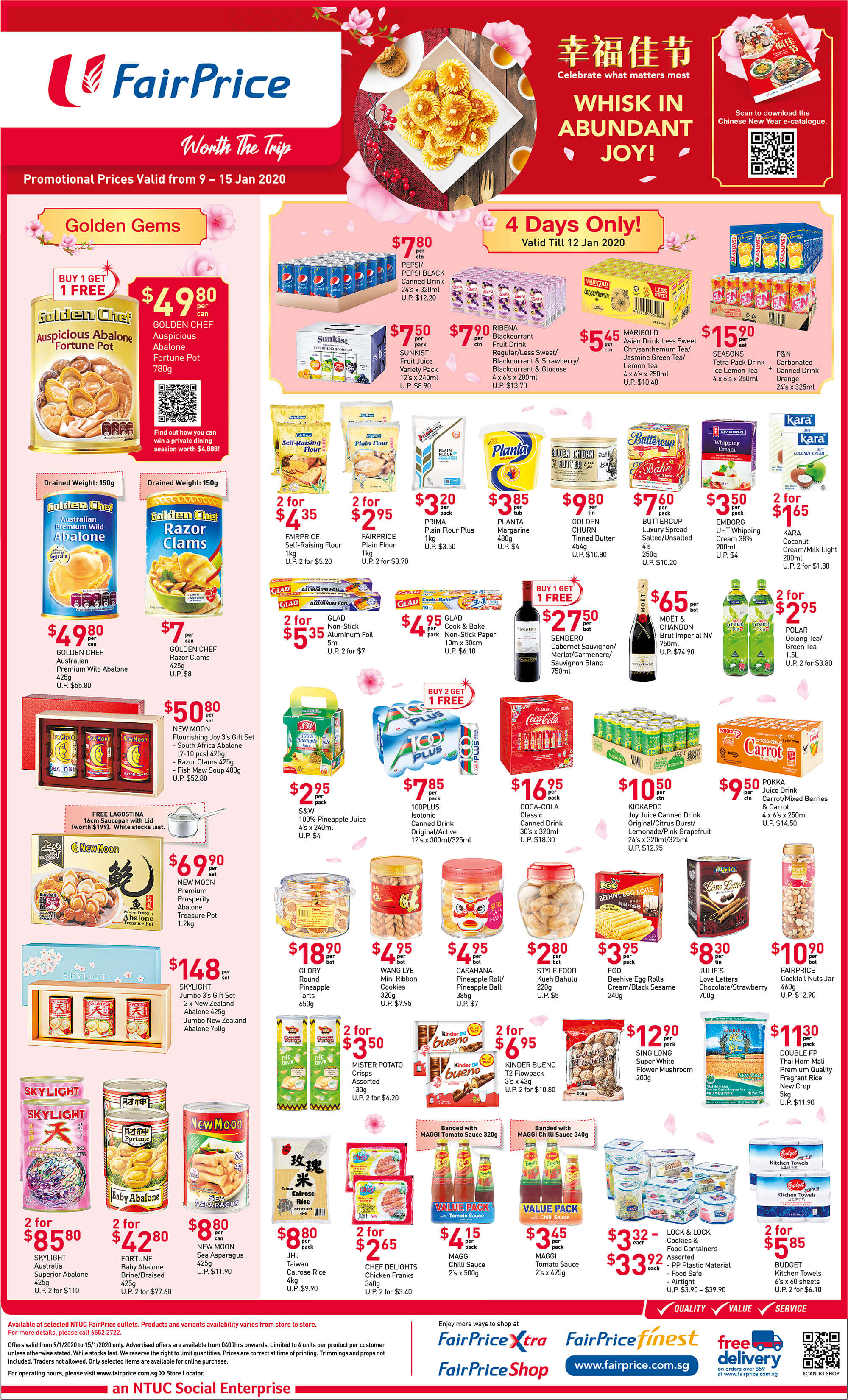 NTUC FairPrice SG Your Weekly Saver Promotions 9-15 Jan 2020 | Why Not Deals 1 & Promotions