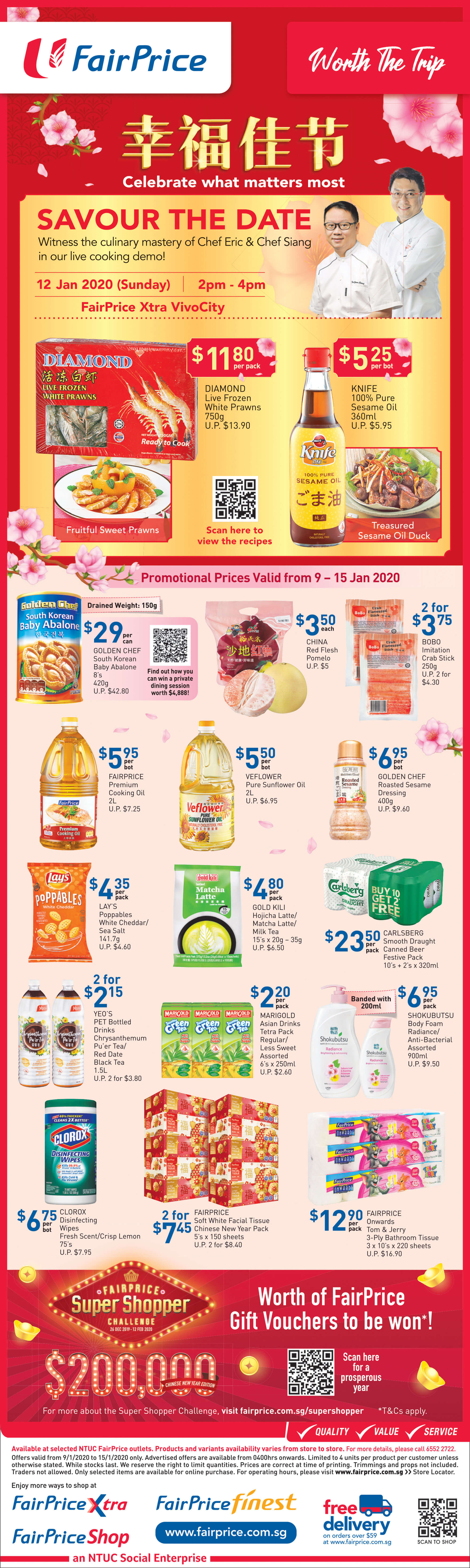 NTUC FairPrice SG Your Weekly Saver Promotions 9-15 Jan 2020 | Why Not Deals 2 & Promotions