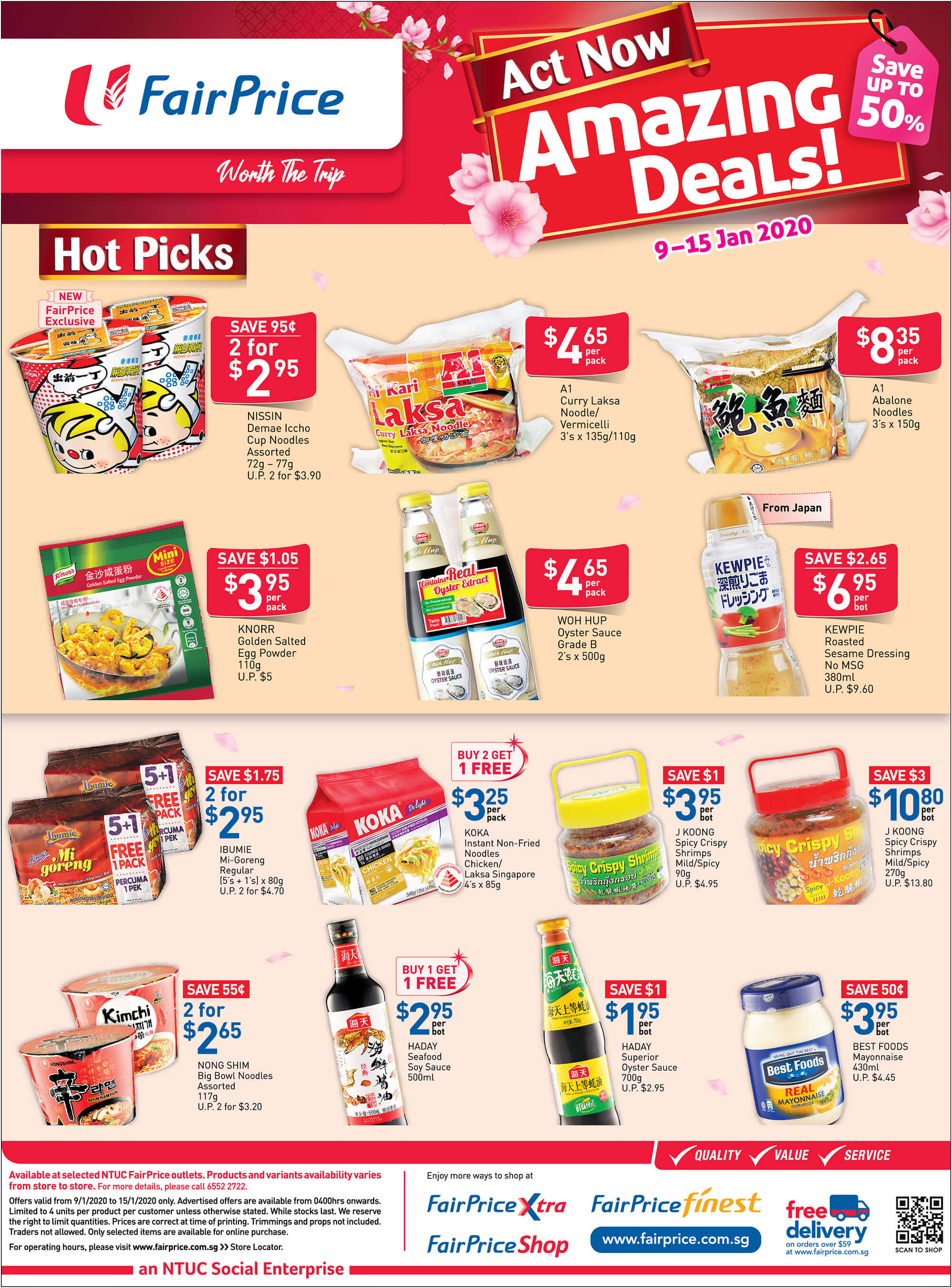 NTUC FairPrice SG Your Weekly Saver Promotions 9-15 Jan 2020 | Why Not Deals 3 & Promotions