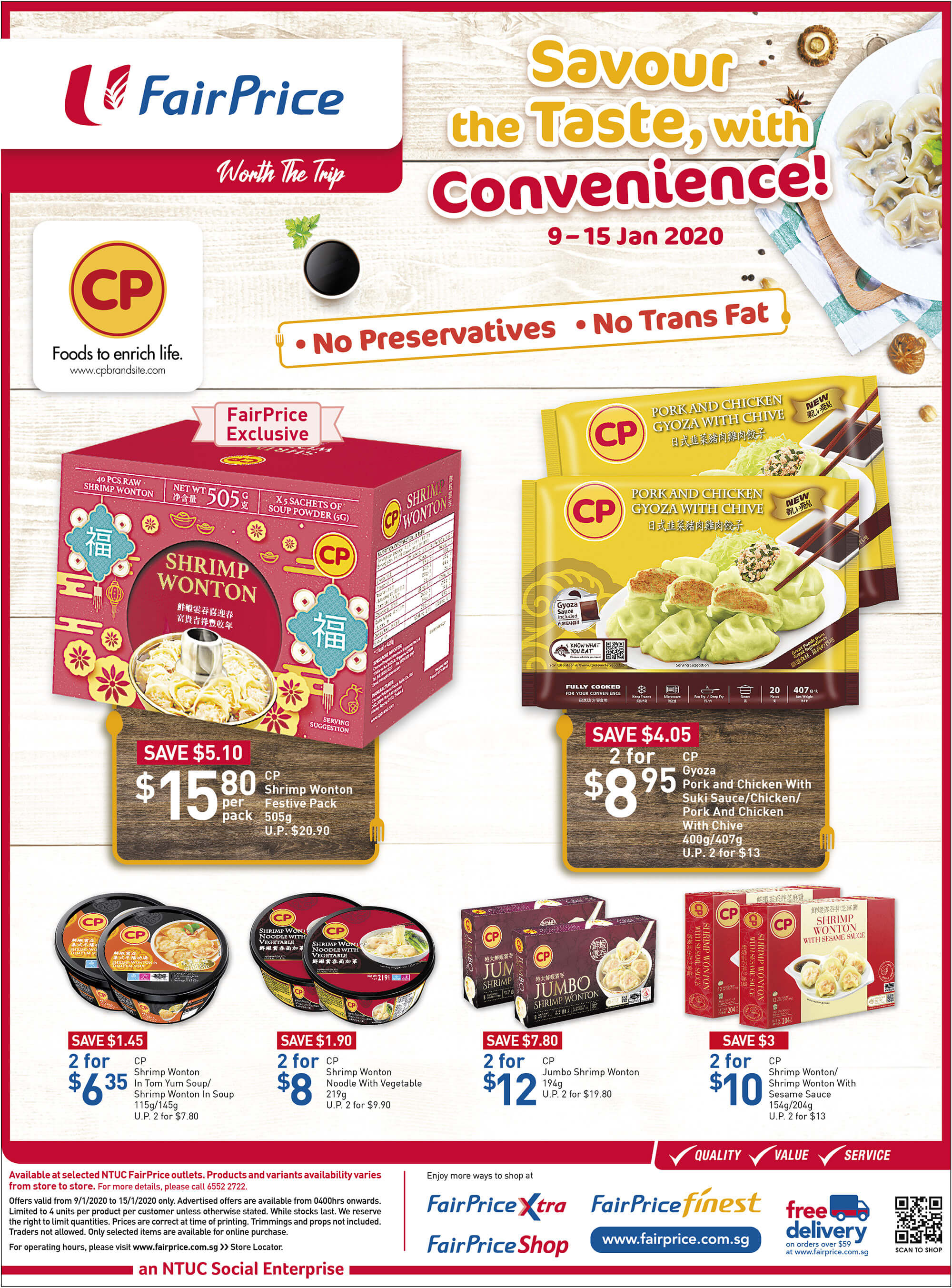 NTUC FairPrice SG Your Weekly Saver Promotions 9-15 Jan 2020 | Why Not Deals 4 & Promotions