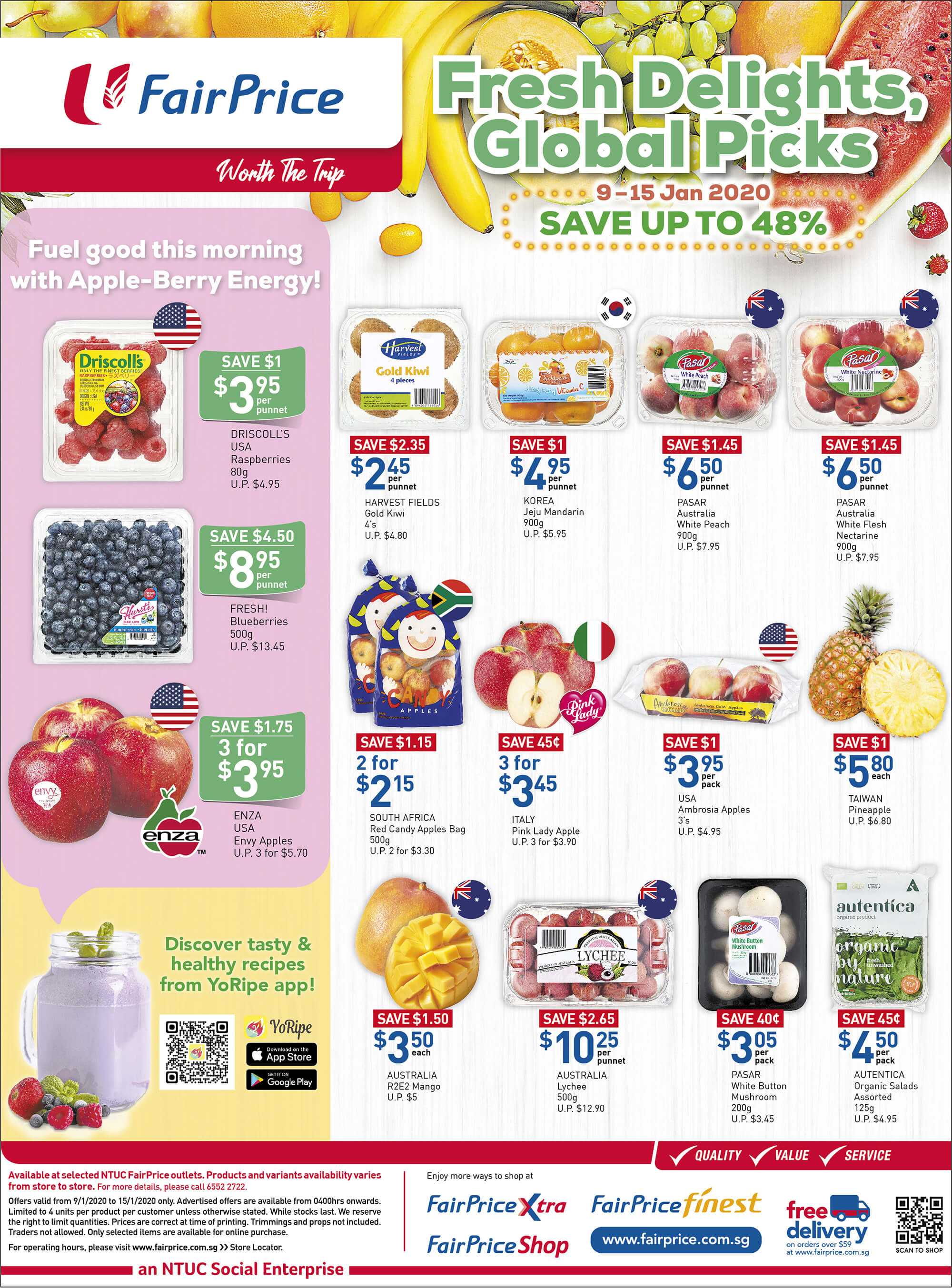 NTUC FairPrice SG Your Weekly Saver Promotions 9-15 Jan 2020 | Why Not Deals 5 & Promotions