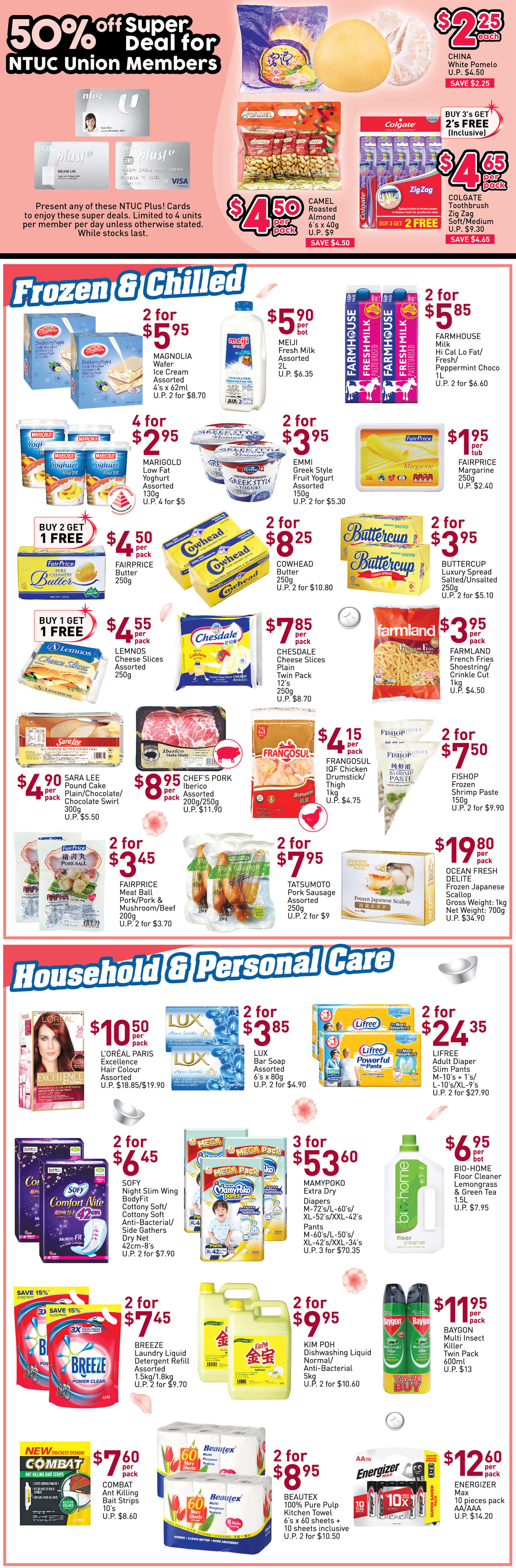 NTUC FairPrice SG Your Weekly Saver Promotions 9-15 Jan 2020 | Why Not Deals 8 & Promotions