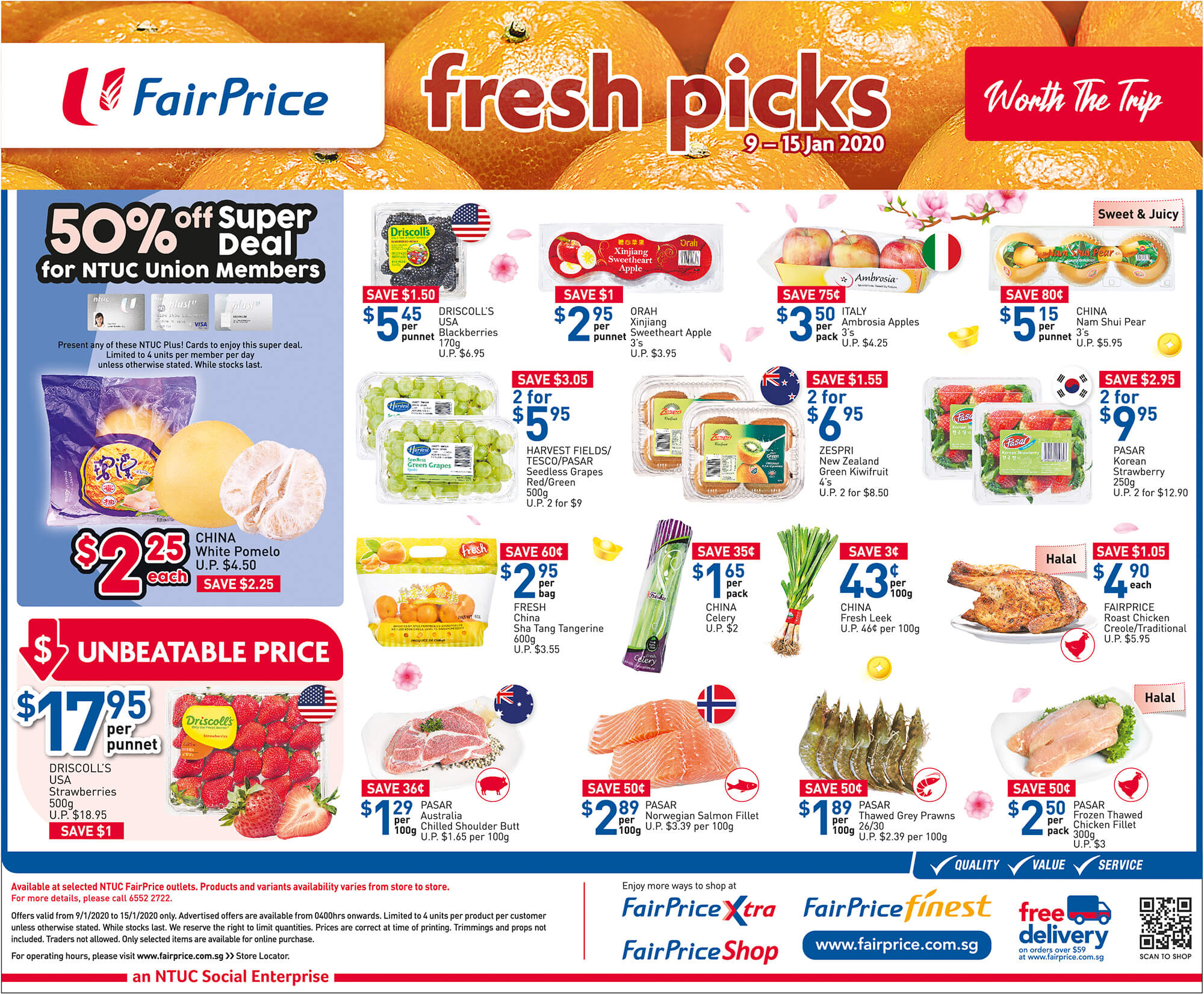 NTUC FairPrice SG Your Weekly Saver Promotions 9-15 Jan 2020 | Why Not Deals & Promotions