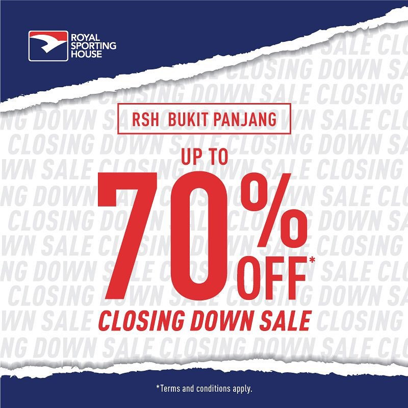 Royal Sporting House SG Bukit Panjang Store Moving Out Sale Up to 70% Off ends 18 Feb 2020   Why Not Deals & Promotions