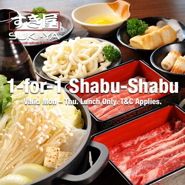 SUKI-YA SG 1-for-1 Shabu Shabu Promotion ends 31 Mar 2020   Why Not Deals & Promotions