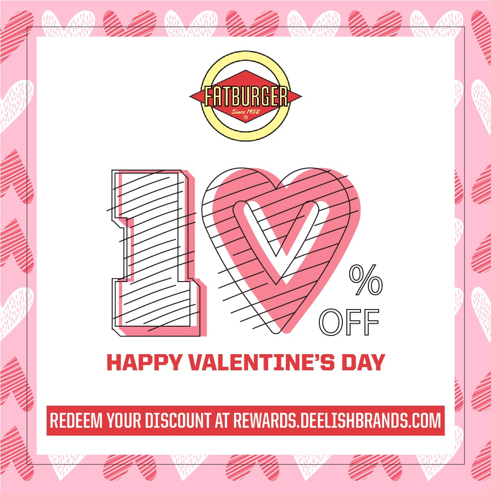 Enjoy 10% OFF at Fatburger this Valentine's Day from now till 16th Feb 2020 | Why Not Deals & Promotions