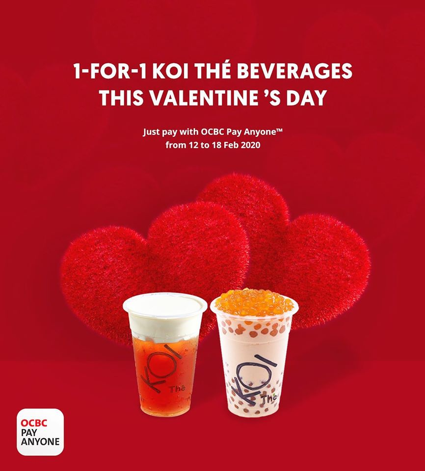 KOI Thé Singapore Valentine's Day 1-for-1 Promotion 12-18 Feb 2020 | Why Not Deals & Promotions